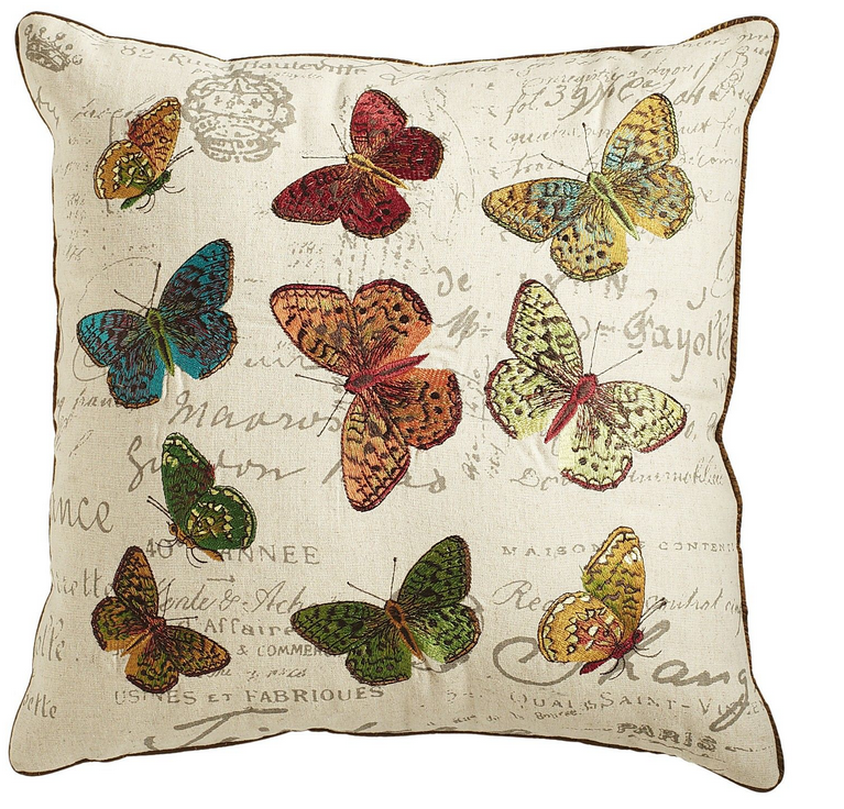 Butterfly Calligraphy Pillow