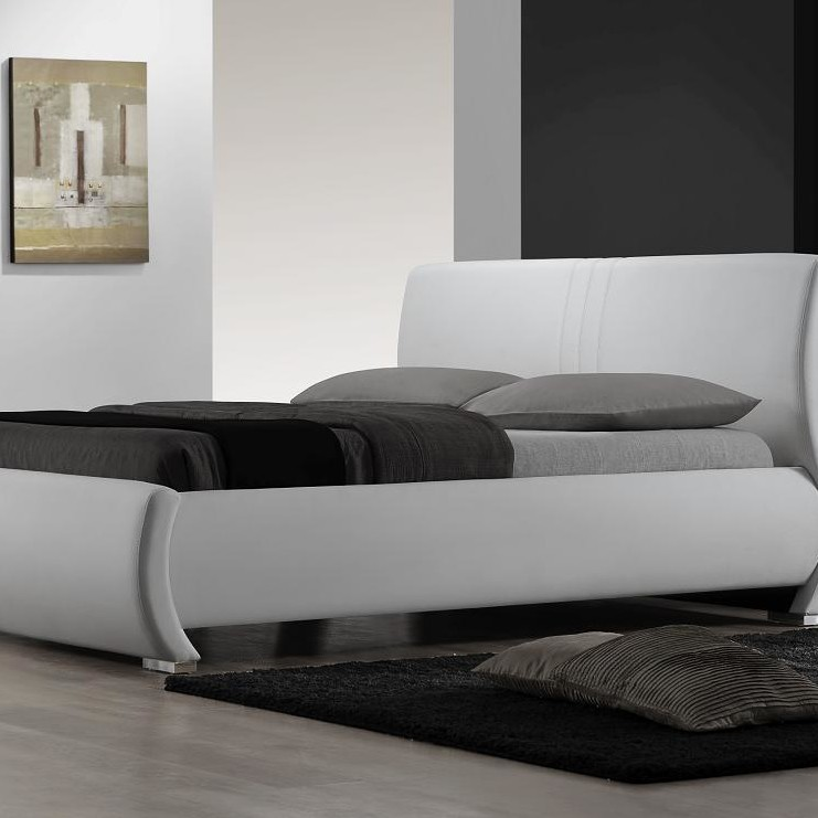 Queen Size Low Bed Part - 47: Queen Sized White Bed 1