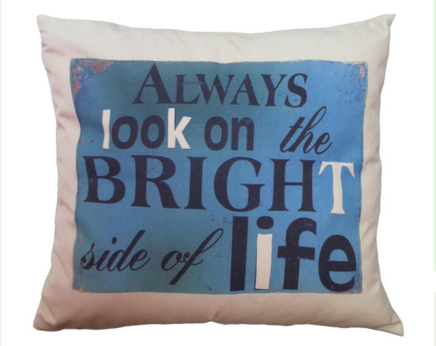 Typographic Decorative Pillow