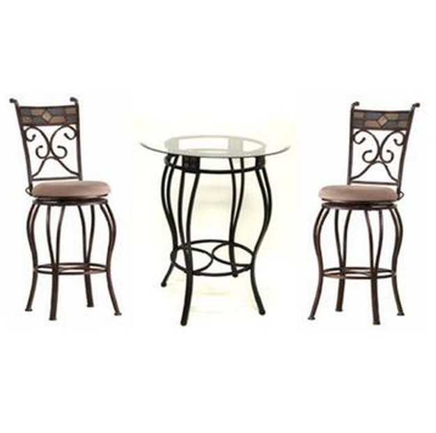 3 pieces beautiful pub set  sc 1 st  Cute Furniture & 6 Beautiful And Elegant Pub Table Sets of 3 - Cute Furniture