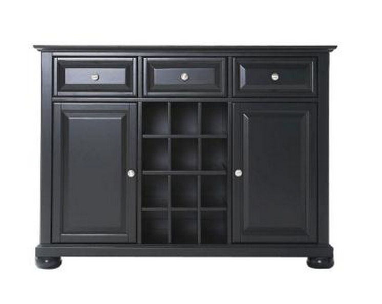 Top 7 Luxurious Dark Wood Sideboards Buffets Cute  : Crosley Alexandria Black Buffet Server and Sideboard from www.cute-furniture.com size 746 x 595 png 271kB