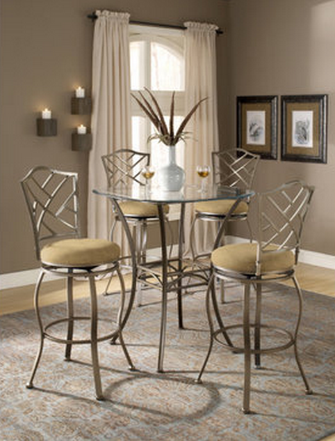 6 Beautiful And Elegant Pub Table Sets of 3 - Cute Furniture