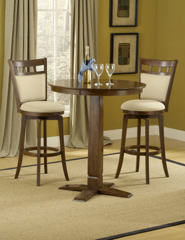hillsdale dynamic designs 3 piece pub table set w jefferson stools