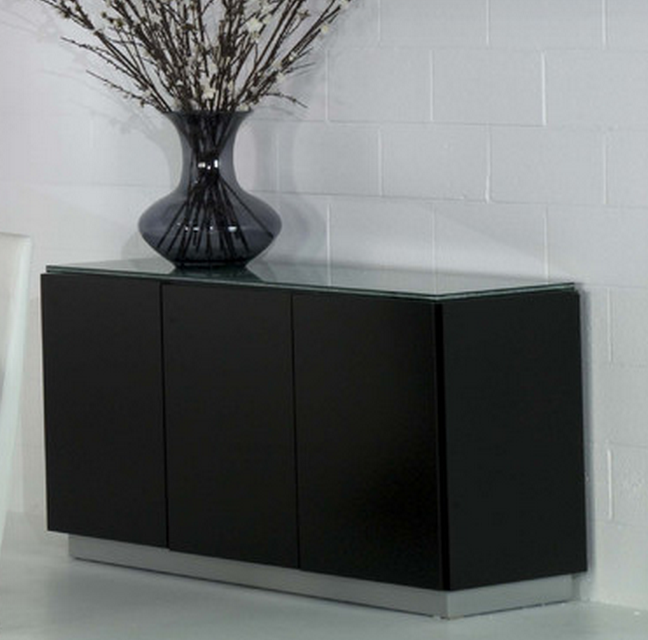 Modern Black Buffet