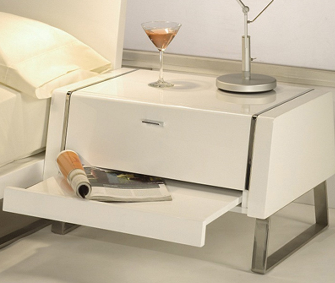 modern nightstands for your bedroom  cute furniture - whiteline bahamas night stand