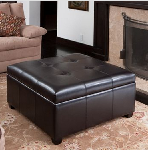 modern leather ottoman - Top 8 Modern Leather Ottomans With Storage - Cute Furniture