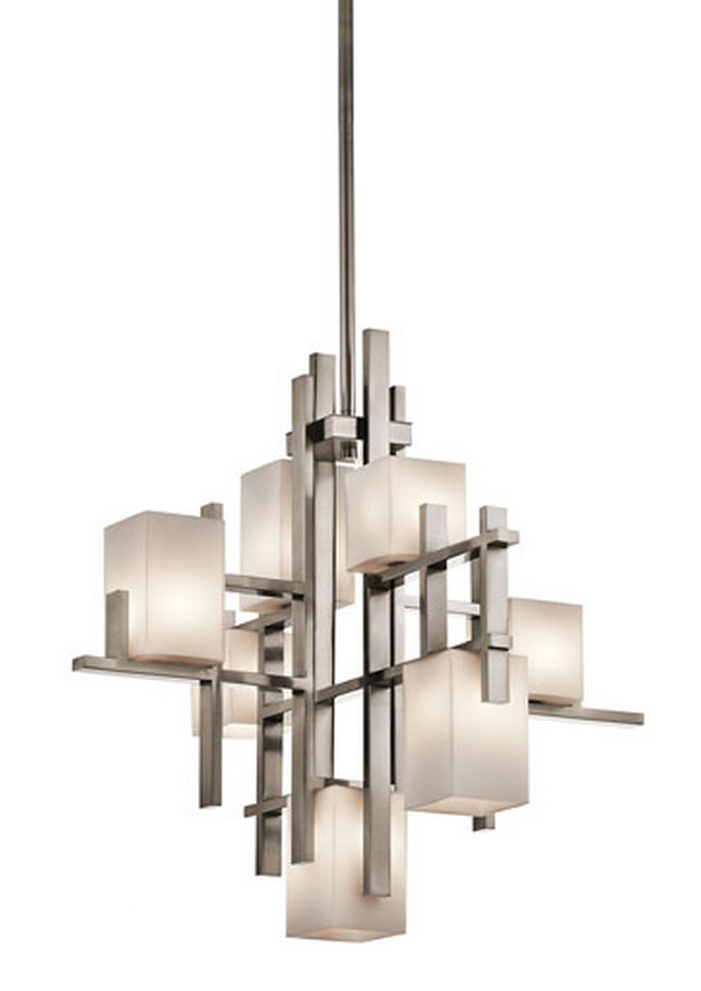 kichler city lights classic pewter seven light
