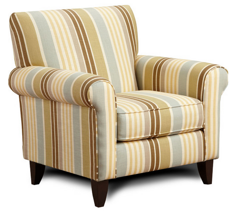 modern striped living room chair