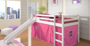 Cute Pink Girl's Bed