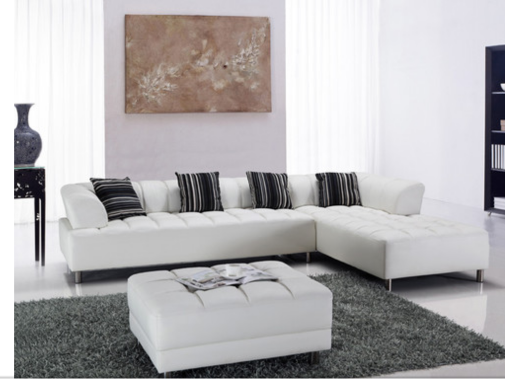Beau Beautiful Modern White Sectional