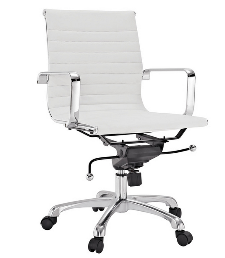 Decorate your home office in white for less than 1000 for Cute white chair