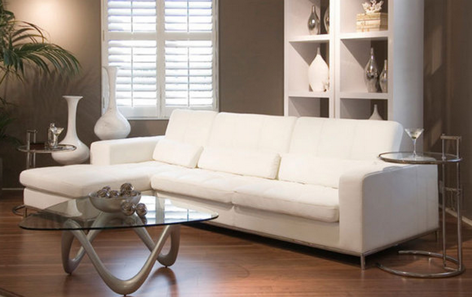 Modern White Sectional Sofa : modern white sectional sofa - Sectionals, Sofas & Couches