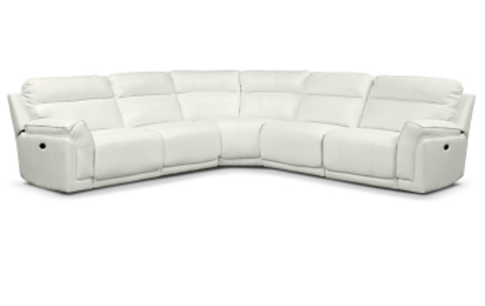 Beautiful Voyager White 5Pc Sectional