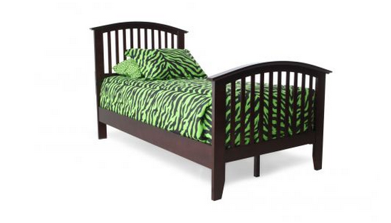 Green bed for kids