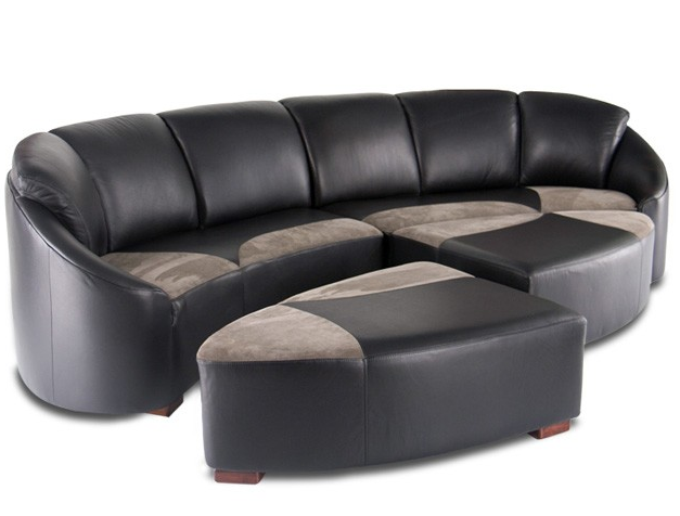 Dark leather Modern Sectional Sofa