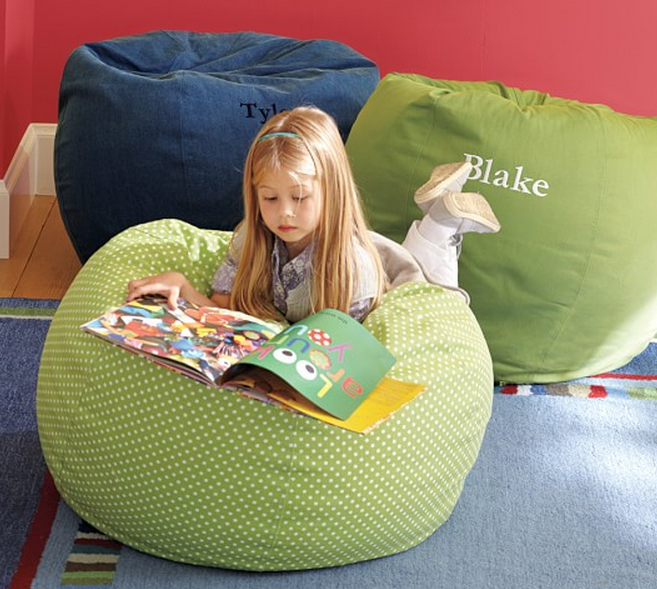 Green Beanbag For Kids