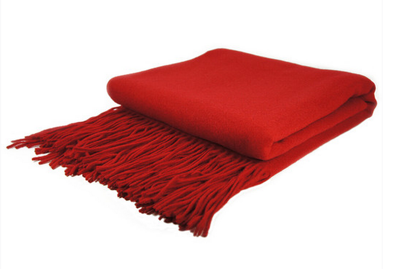 Red Cashmere Blend Throw