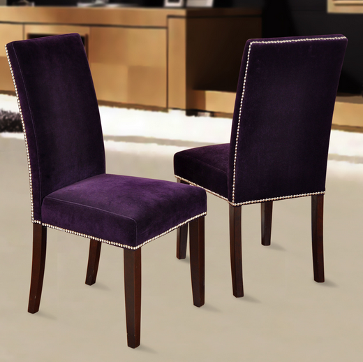 Top 8 purple dining room chairs cute furniture for Dining room velvet chairs