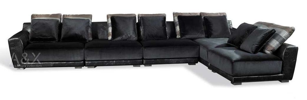Black leather sectional sofafull size of sofasmall for Small spaces sectional sofa black faux leather