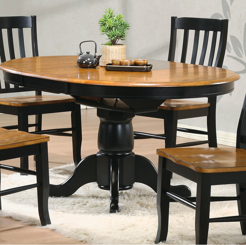 10 single pedestal round dining tables cute furniture for Cute kitchen tables