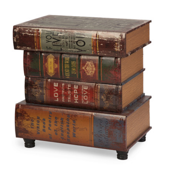 Four Books End Table