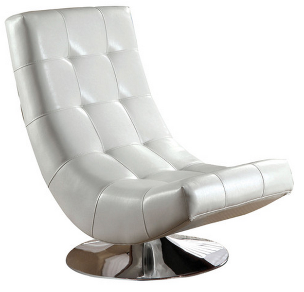 Top 7 white accent chairs for your modern living room for Cute white chair