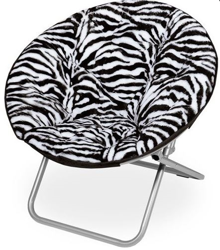 Round Zebra Print Chair