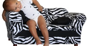Zebra Print Sofa For Kids