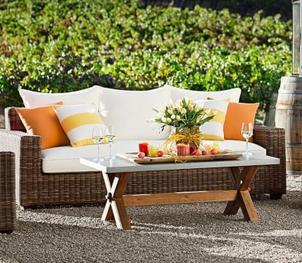 Torrey All Weather Wicker Square Arm Sofa