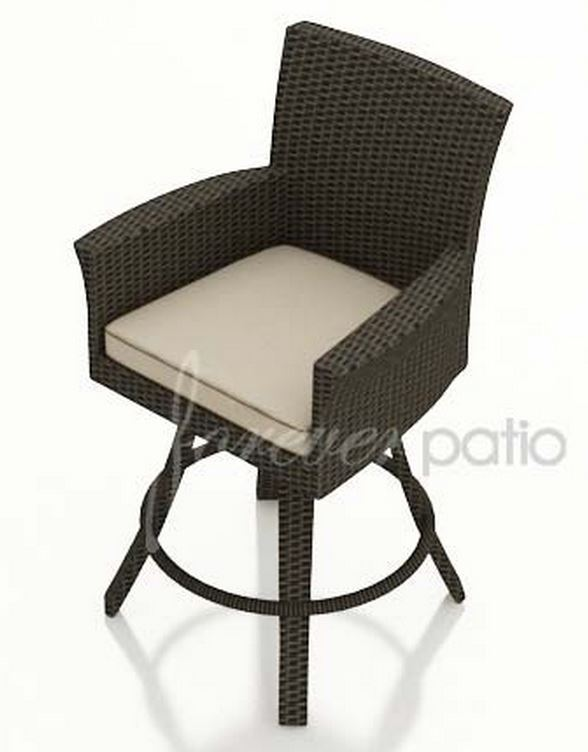 Forever Patio Hampton Wicker Swivel Bar Stool