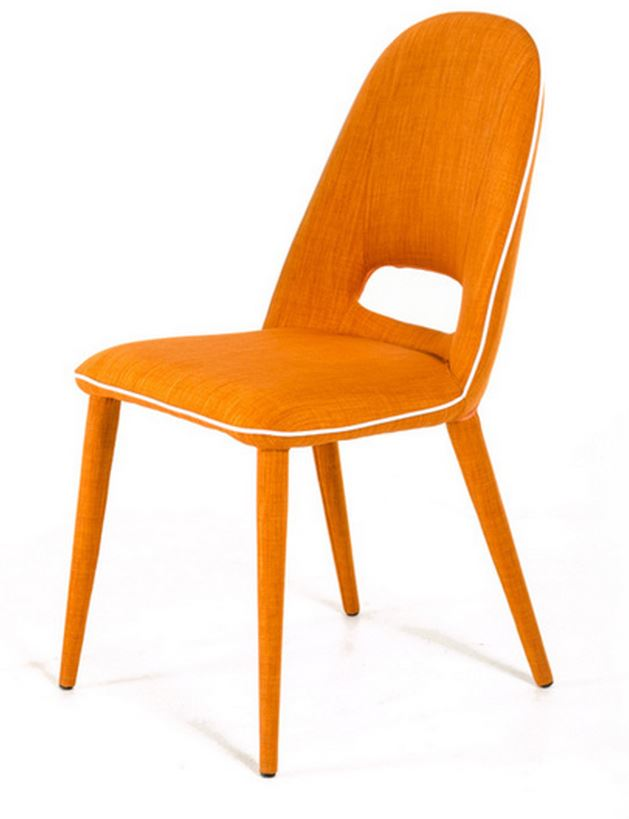 Orange Contemporary Dining Room Chair