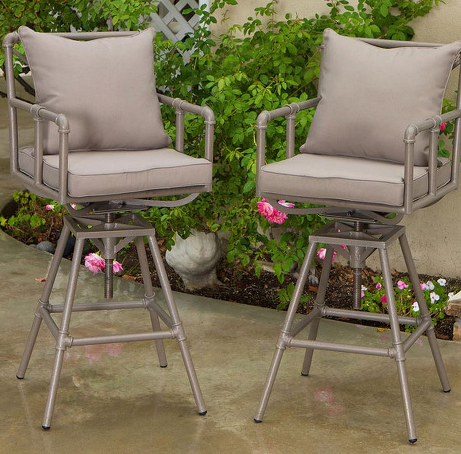 Northrup Pipe Outdoor Adjustable Barstools