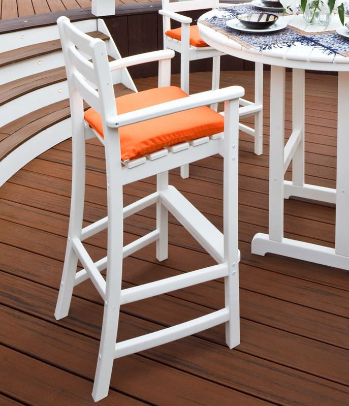 White Patio Bar Stool