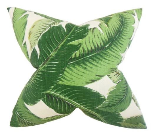 Green Outdoor Pillow