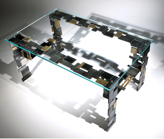 Modern Creative Stainless Steel Coffee Table