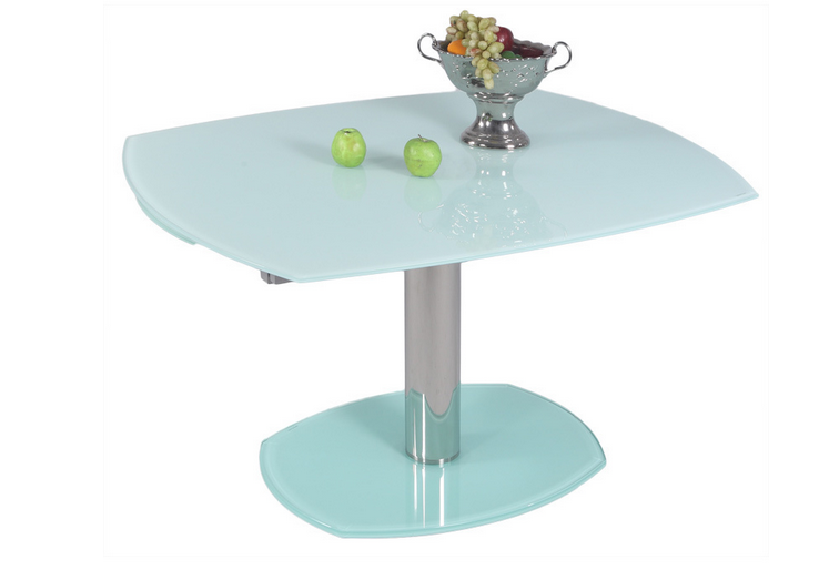 White Modern Glass Dining Table