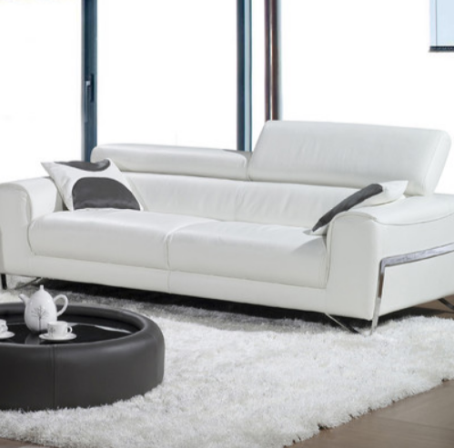 White Modern Leather Sofa