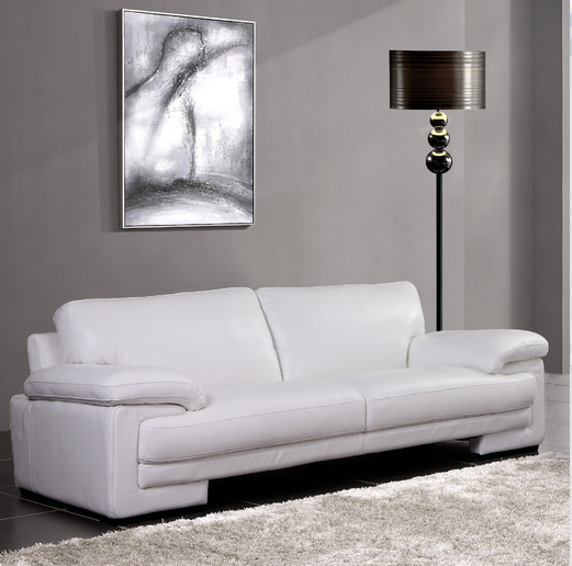6 White Leather Sofas For Every Modern Living Room Cute