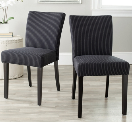 Classic Striped Black Dining Chair