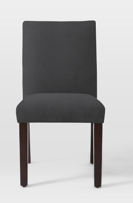 Tailored Black Dining Chair