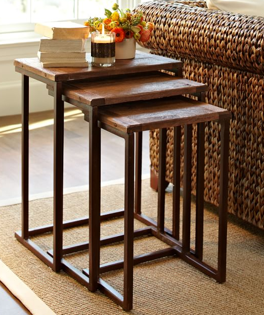 Industrial Nesting Side Table Granger