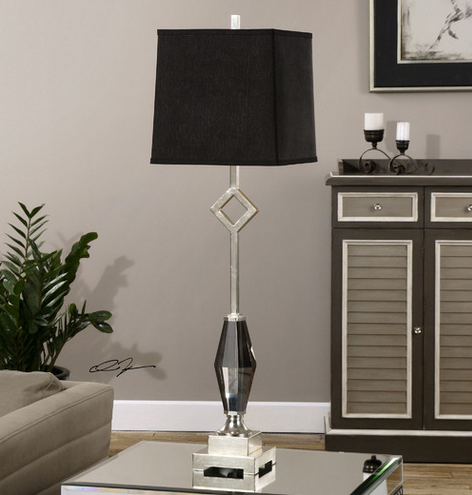 Black Buffet Table Lamp