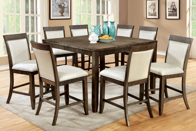 Modern 9 piece dining set Hokku Designs