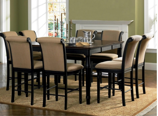 Black Wood Dining Set Riverdale