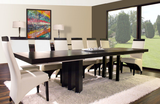 Great Modern Dining Set By Sharelle Furnishings