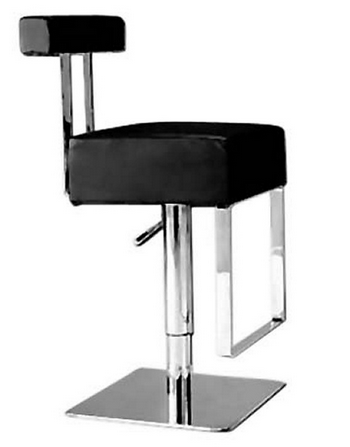 Modern Adjustable Black Bar Stool
