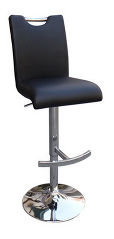 Creative Images Modern Black Bar Stool