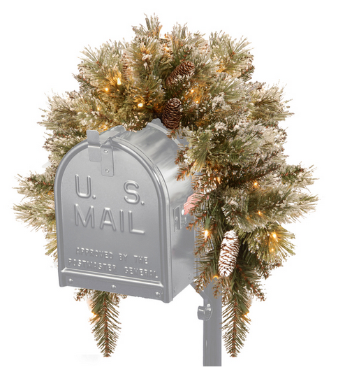 Christmas Pine Decoration For Mail Box
