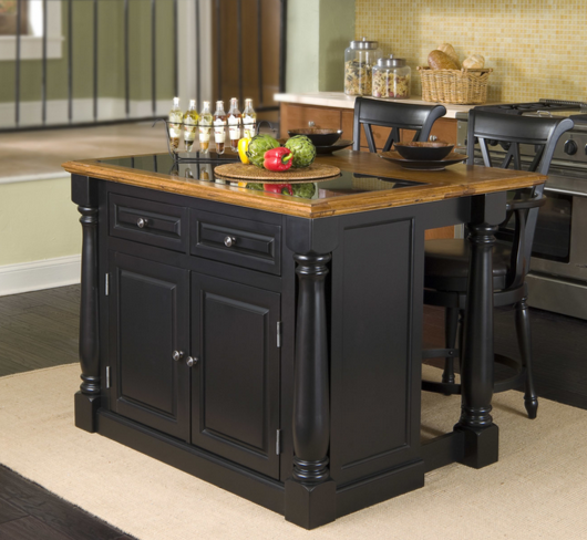 Black Kitchen Island by Home Styles