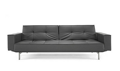 Pier Weiss for Innovation USA Black Convertivle Sleeper Sofa